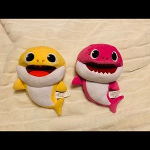 Two (2) Baby Shark Singing Puppet Plushies